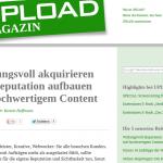 Mein Beitrag über Contentstrategie im Upload-Magazin