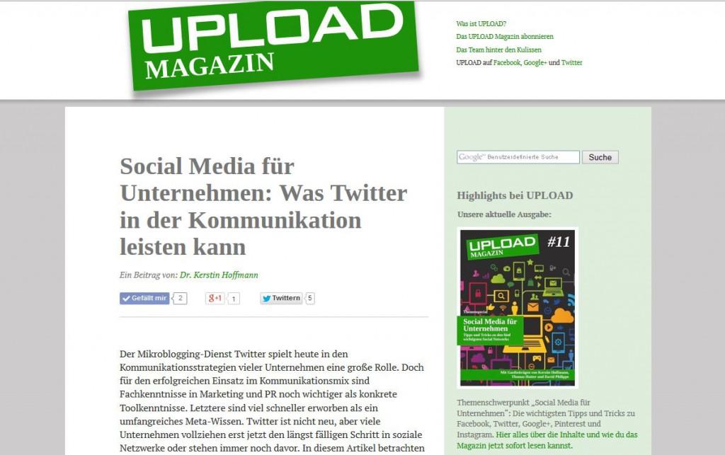 UPLOAD Twitter-Artikel