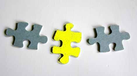 """Endlich entdeckt: Das """"missing link"""", das die verschiedenen Abteilungen im Unternehmen verbindet. (c) Foto: Kerstin Hoffmann"""