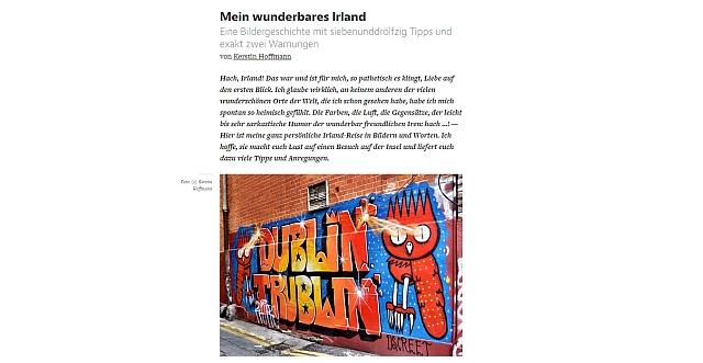 Reisebericht Irland auf medium.com