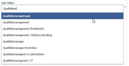Facebook-Targeting über den Arbeitstitel
