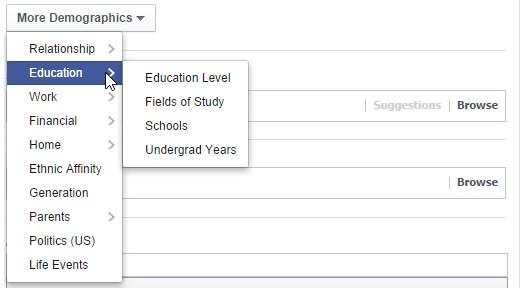 Facebook-Targeting Ausbildung