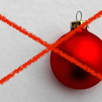 Durchgestrichene Weihnachtskugel