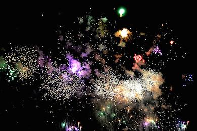 Feuerwerk zum Start in ein großartiges 2015