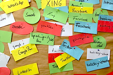 Wer kennt die Networks, nennt die Namen? –Nicht Accounts um jeden Preis anlegen, bitte, sondern die Präsenzen innerhalb einer sinnvollen Strategie planen.