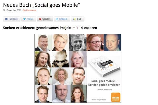 """""""Mobile"""" ist ein Thema, um das kein Unternehmen mehr herumkommt. Im Herbst 2015 durfte ich an einem großartigen Buchprojekt mit insgesamt 14 Autoren mitschreiben. Mehr dazu hier. »"""