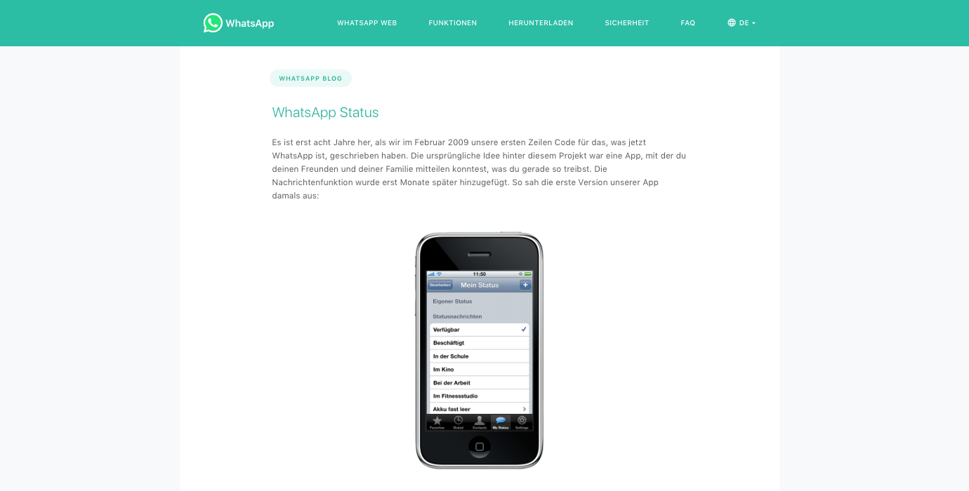Screenshot WhatsApp-Blog