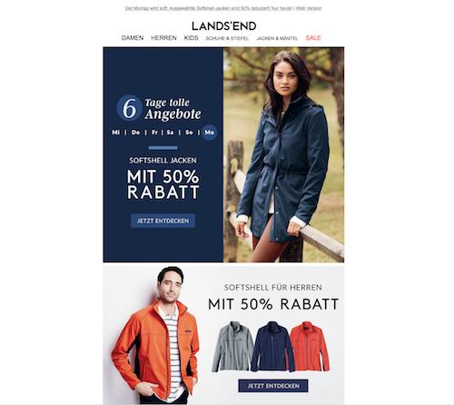 Newsletter landsend
