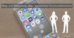 Smartphone mit Social-Media-Apps