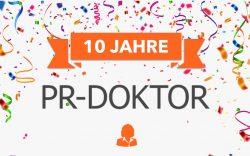 PR-Doktor wird 10 Jahre alt