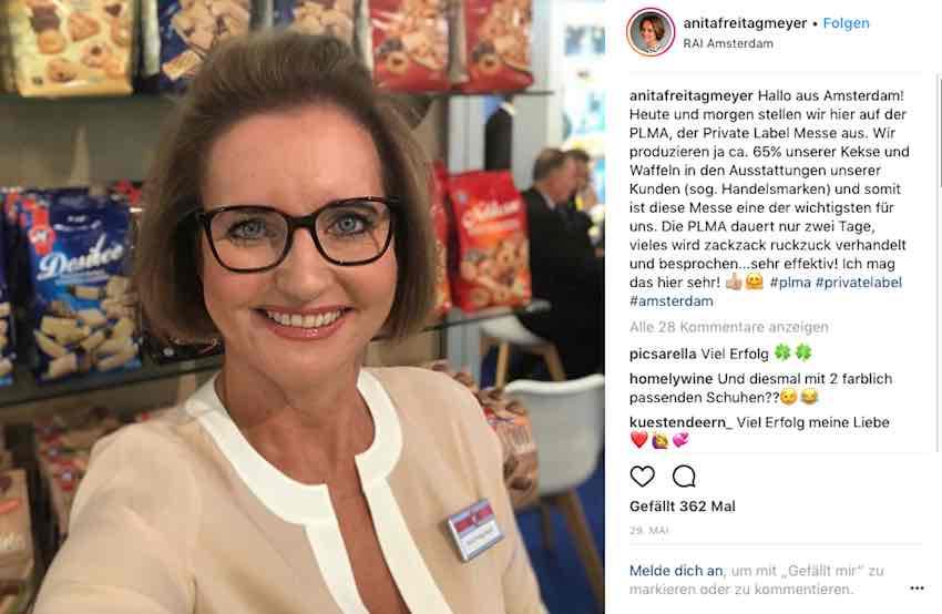 Anita Freitag-Meyer auf Instagram