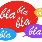 Sprechblasen mit Blablabla
