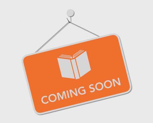 Schild mit der Aufschrift Coming Soon und dem Umriss eines Buchs