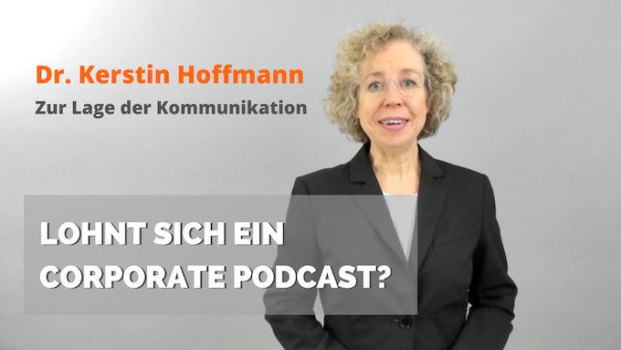Titelbild Lohnt sich ein Corporate Podcast