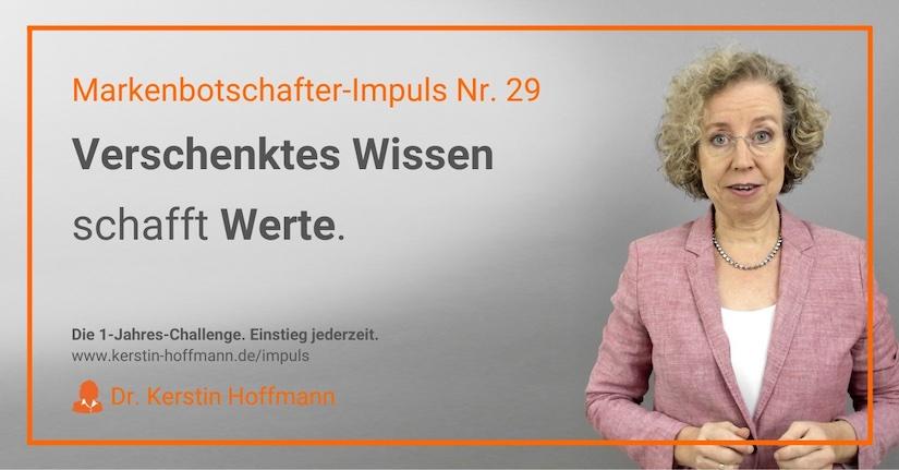 Markenbotschafter-Impuls Nr. 29