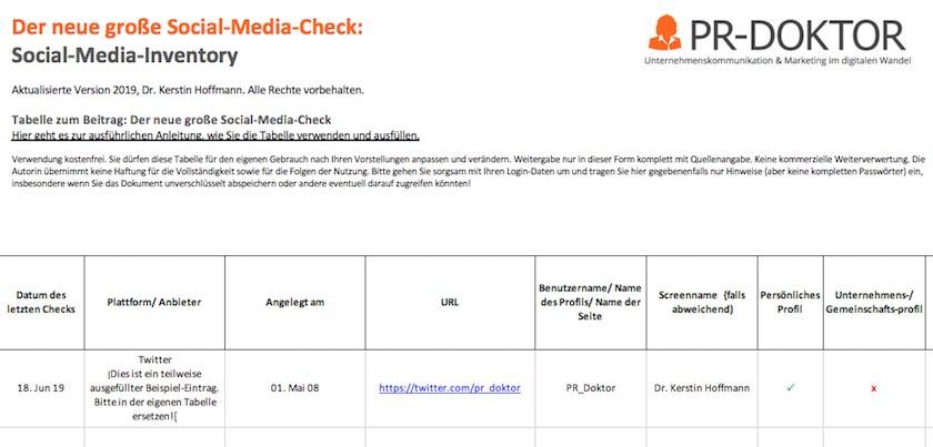 Social-Media-Inventory herunterladen