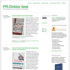 PR-Doktor liest. Rezensionen aus der Welt der Kommunikation