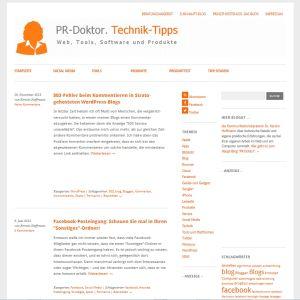 PR-Doktor. Technik-Tipps