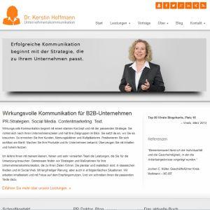 Website Dr. Kerstin Hoffmann Unternehmenskommunikation, http://kerstin-hoffmann.de