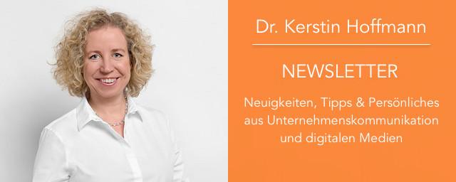 Dr. Kerstin Hoffmann: persönlicher Newsletter
