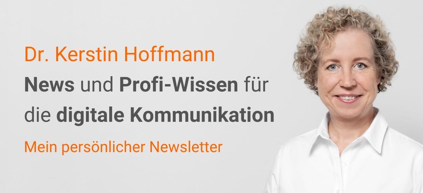 Newsletter: Profi-Wissen für die digitale Kommunikation